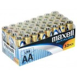 MAXELL baterija AA (LR6), alkalne, pakiranje v folijo (32 kos)