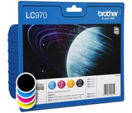 Komplet kartuš Brother LC970 Value Pack (LC970VALBP) (original, komplet)