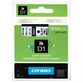 Trak DYMO D1 bel/črn (45803), 19mm x 7m (original)