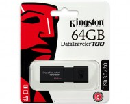 USB ključek Kingston DataTraveler 100 G3, 64GB, USB 3.0, 100/10 (črn)