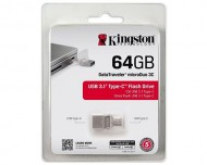 USB ključek Kingston DataTraveler microDuo 3C, 64GB, USB 3.1, 100/15, Type-C port (srebrn)