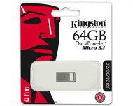 USB ključek Kingston DataTraveler Micro 3.1, 64GB, USB 3.1, 100/15 (srebrn)