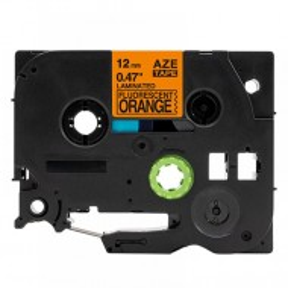 MEGA trak Brother TZe-B31 fluorescentni, oranžen/črn, 12mm (kompatibilni, trak za P-Touch)